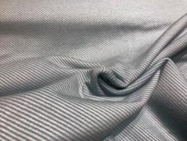 Gebreide gestreepte stof mint grijs (Swafing)