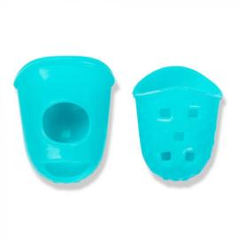 Prym Naaldgrijpers siliconen Turquoise (2st)