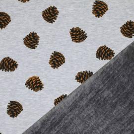 Alpenfleece Dennenappel grijs