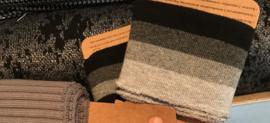 Gebreide stof Donker grijs