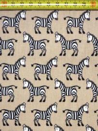 Katoen zebra zand