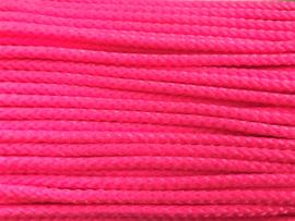 Satijn koord gevlochten 4mm Fuchsia  / Roze
