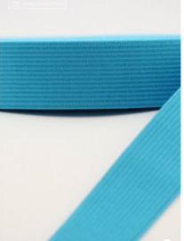 Elastiek uni aqua blauw 4cm