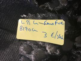 Faux fur zwart  L55 B170
