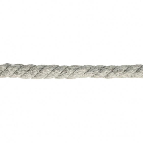Katoen koord gedraaid grijs (10mm)
