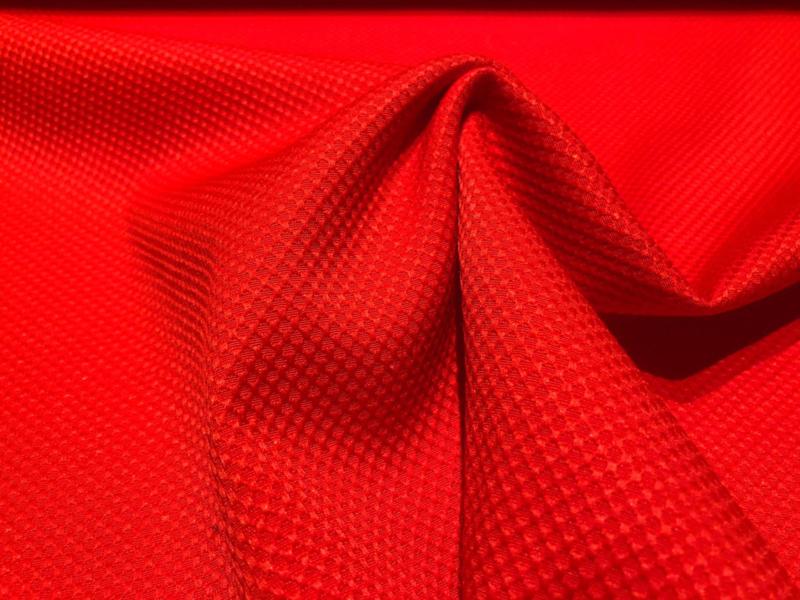 Pique katoen rood