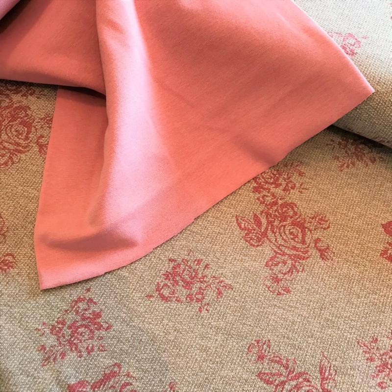Gebreide stof Melvin Grijs roze
