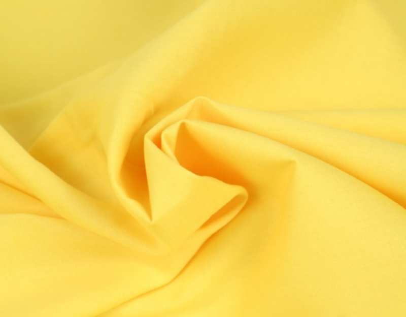 Katoen (Poplin) Licht geel
