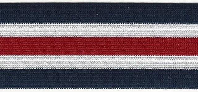 Elastiek benetton blauw wit rood
