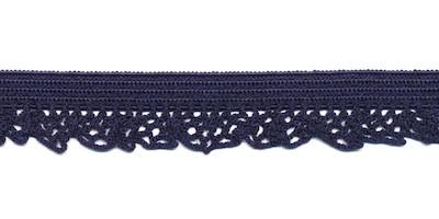 Elastische kant donker blauw (12 mm)