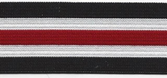 Elastiek benetton rood zwart wit