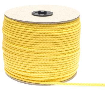Katoenen koord geel 5 mm