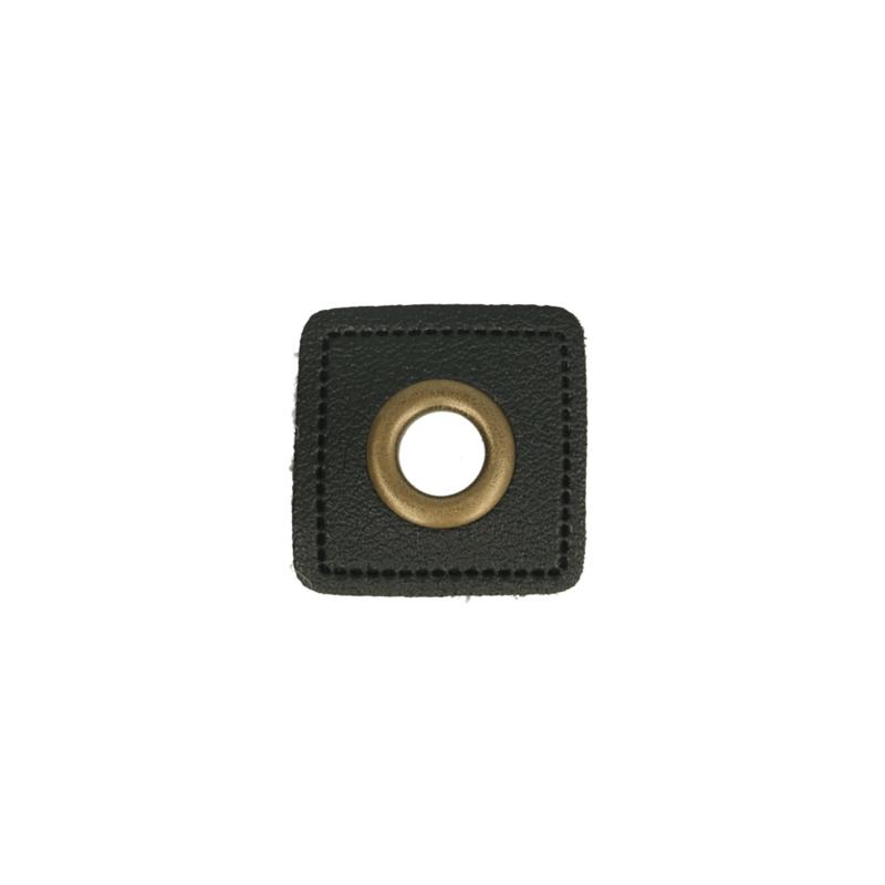 Nestelringen op Skai Leer 8mm brons