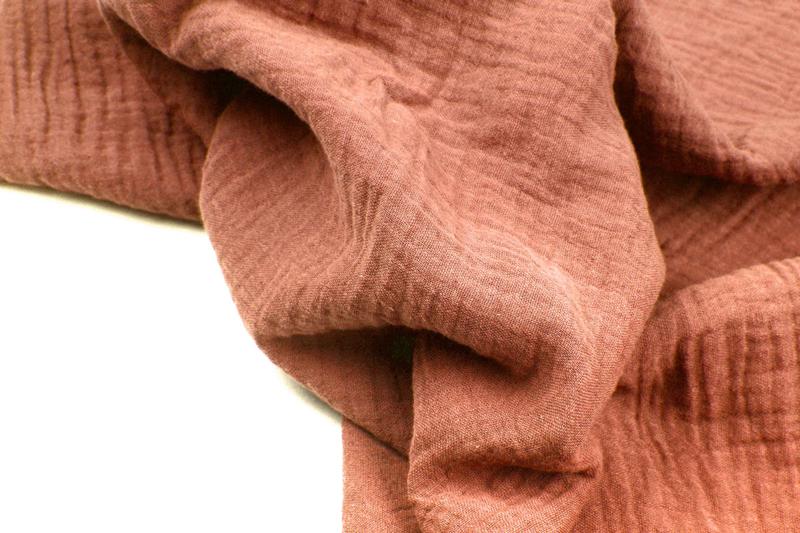 Hydrofiel / double gauze roest - brique