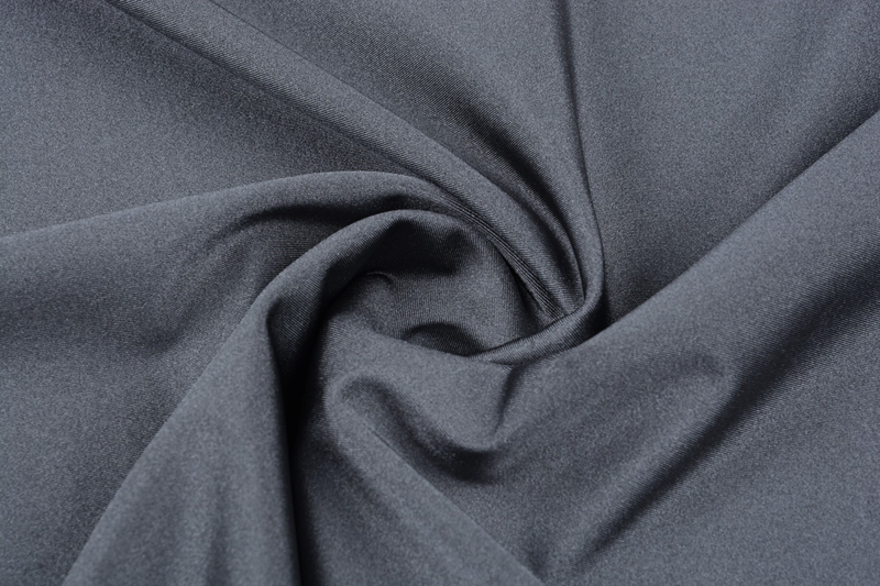 Lycra glans grijs