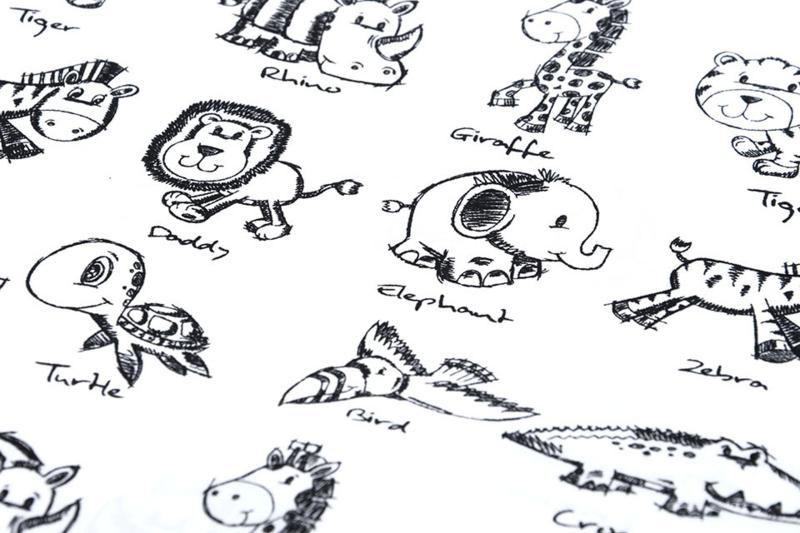 Katoen Sketch diertjes