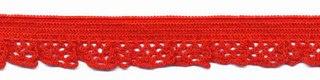 Elastische kant rood  (12 mm)