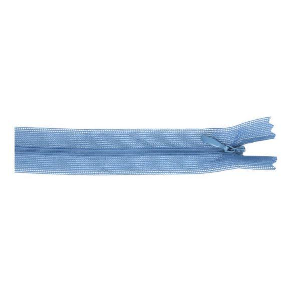 Blinde rits 40 cm blauw