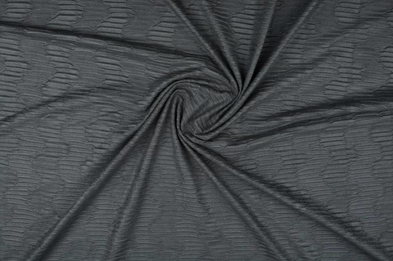 Suede plissée structuur donker grijs