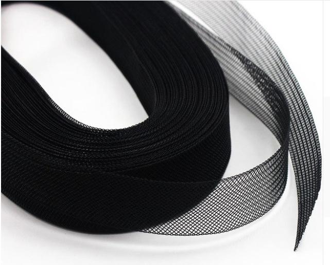 Crinoline band 5cm zwart
