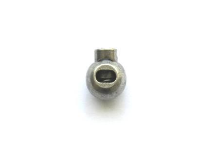 Koordstopper zilver polyester (2cm - 5mm)