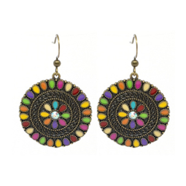 Oorbellen Boho Rounds Color