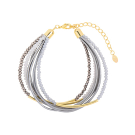 Armband Groovy Beads Grey
