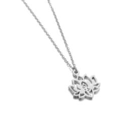 Zilveren Ketting met hanger Lotus