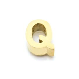 Gouden Ketting Letter Q