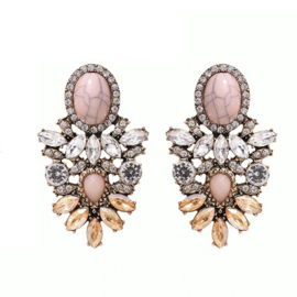 Statement oorbellen Crystal Chic Champagne