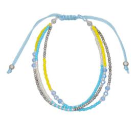 Bohemian Armband Blauw / Geel