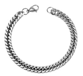 Zilveren Schakel Armband