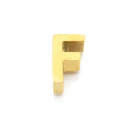 Gouden Ketting Letter F
