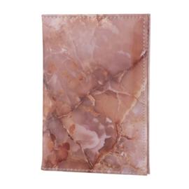 Paspoort Hoes Marmer Pink