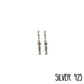 Earrings Visgraat Zilver