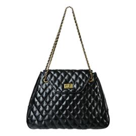 Shopper Checkered Zwart