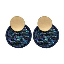 Oorbellen Cirkle Beads Blauw