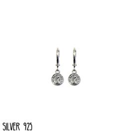 Earrings Little Coin Zilver