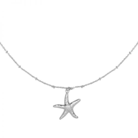 Zilveren Ketting Starfish