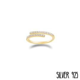 Gouden Ring Steentjes