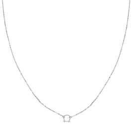 Zilveren Ketting met hanger Hoefijzer