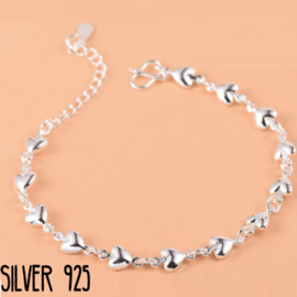 Armband Hearts Zilver 925