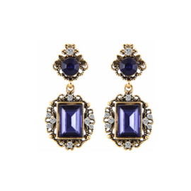Statement Earrings Royal Blue
