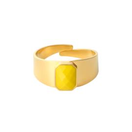 Gouden Ring Steen Geel