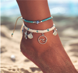Enkelbandje Beach Shells