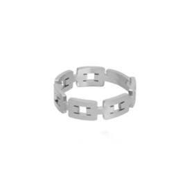 Zilveren Ring Schakels Simpel