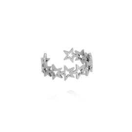 Zilveren Ring Sterren