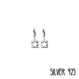 Earrings Open Star Zilver