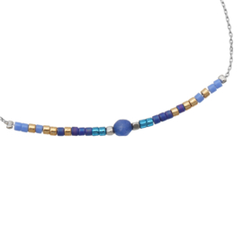 Armband Beads en Stone Blauw
