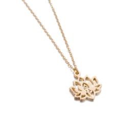Gouden Ketting met hanger  Lotus